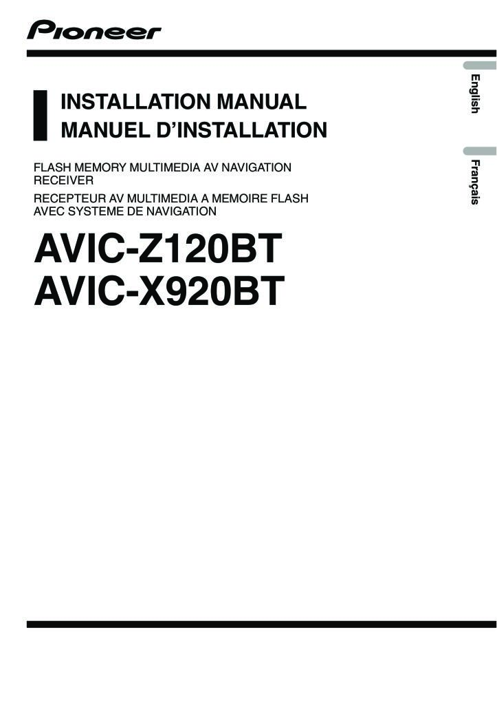Town Country Pioneer Avic X920bt Installation Manual Pdf